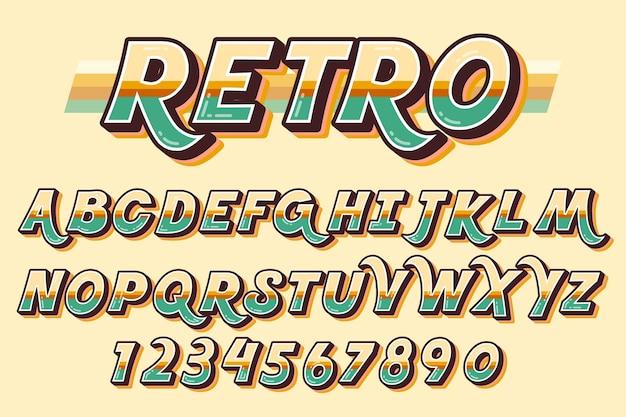Conceito de alfabeto retrô 3d