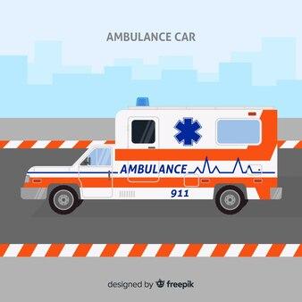 Conceito de ambulância em estilo simples