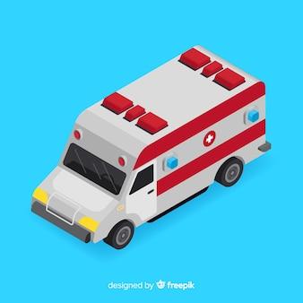 Conceito de ambulância isométrica