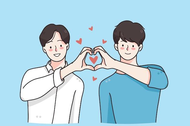 Conceito de amor de casal gay de um gênero