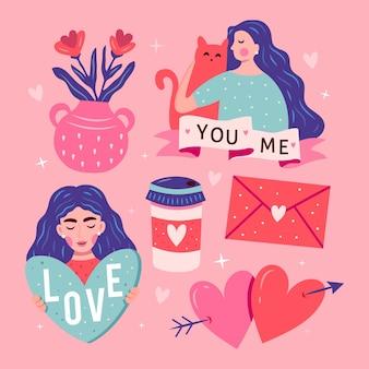 Conceito de amor ilustrado