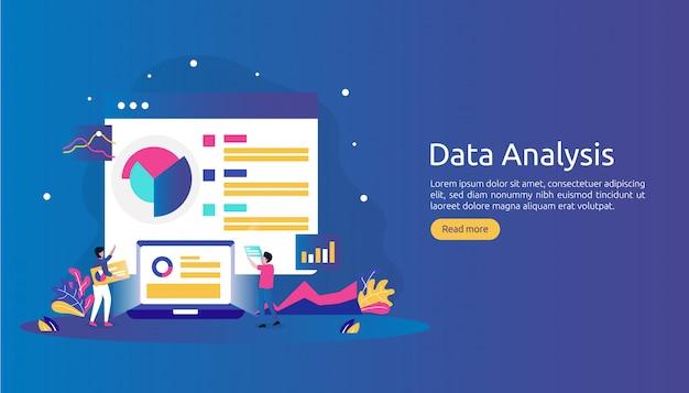 Conceito de análise de dados digitais para pesquisa de mercado e estratégia de marketing digital.