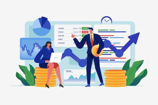 Conceito de análise do mercado de ações