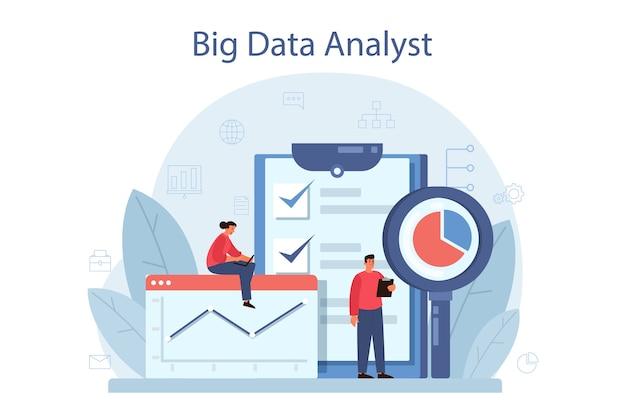 Conceito de análise e análise de big data de negócios