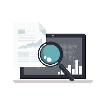 Conceito de análise e inteligência de negócios