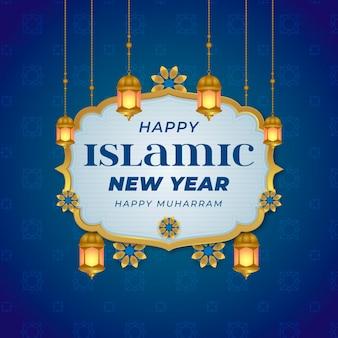 Conceito de ano novo islâmico plana
