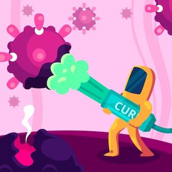 Conceito de antídoto para coronavírus