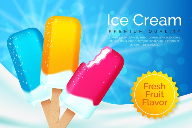 Conceito de anúncio de sorvete