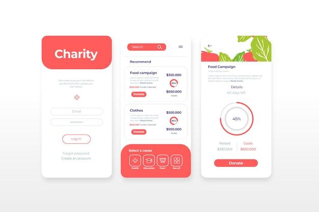Conceito de aplicativo de caridade
