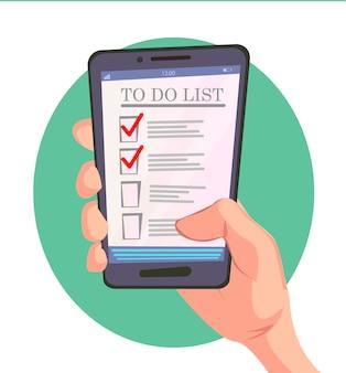 Conceito de aplicativo de lista de tarefas.