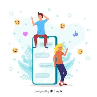 Conceito de aplicativo de namoro on-line