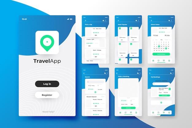 Conceito de aplicativo de reserva de viagem