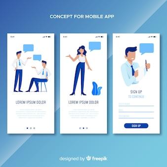 Conceito de aplicativo móvel