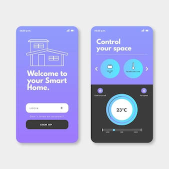 Conceito de aplicativo para casa inteligente