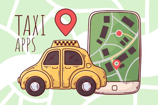 Conceito de aplicativo para táxi
