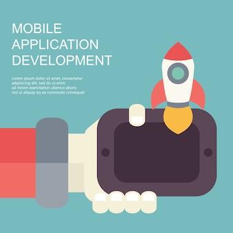 Conceito de aplicativos móveis
