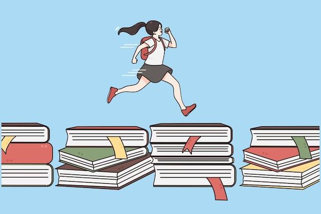 Conceito de aprendizagem de educação de volta à escola