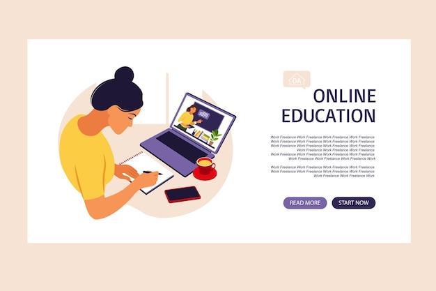 Conceito de aprendizagem online.