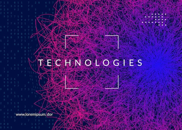 Conceito de aprendizagem profunda. abstrato de tecnologia digital. inteligência artificial e big data. visual de tecnologia para o modelo de tela. pano de fundo geométrico de aprendizagem profunda.