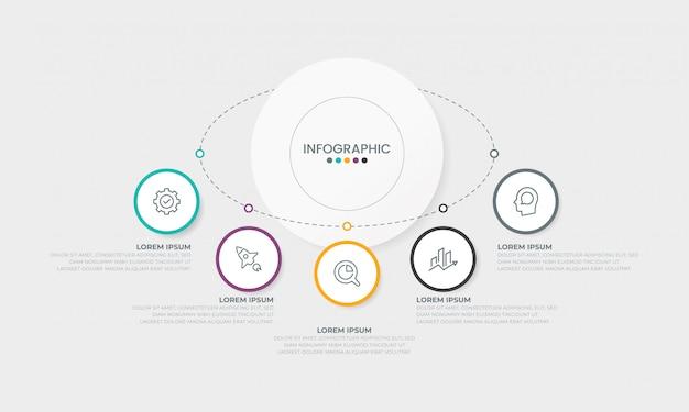 Conceito de apresentação do negócio infográficos modelo infográfico