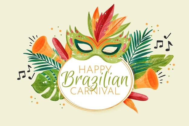 Conceito de aquarela carnaval brasileiro