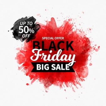 Conceito de aquarela negra sexta-feira