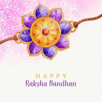 Conceito de aquarela raksha bandhan