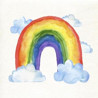 Conceito de arco-íris aquarela