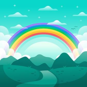 Conceito de arco-íris plana