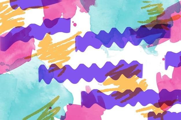 Conceito de arte com pintura abstrata