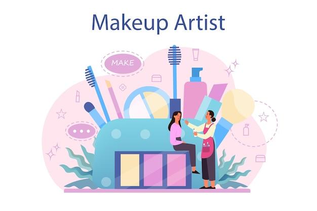 Conceito de artista de maquiagem