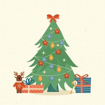 Conceito de árvore de natal vintage