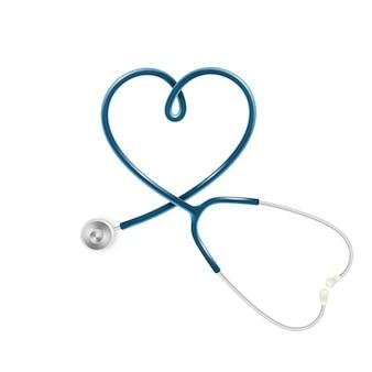 Conceito de assistência médica e de saúde, estetoscópio médico isolado