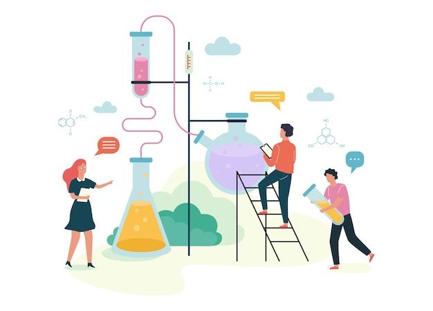Conceito de assunto de química. experiência científica no laboratório