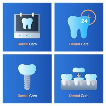 Conceito de atendimento odontológico. prevenção, check up e tratamento odontológico.