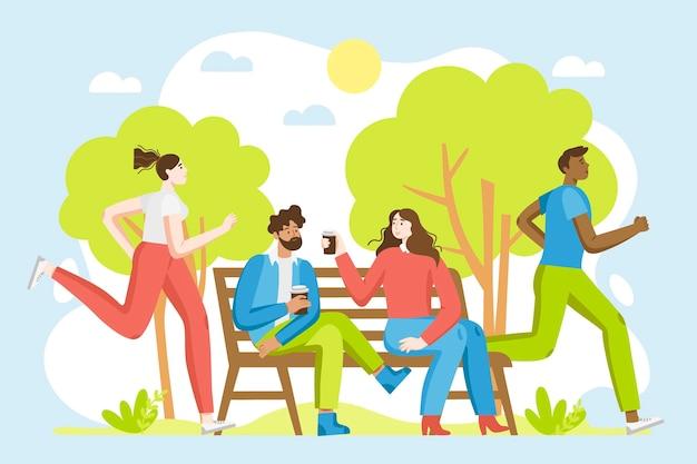 Conceito de atividades ao ar livre do verão
