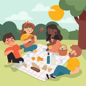 Conceito de atividades ao ar livre