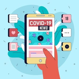 Conceito de atualização do coronavírus