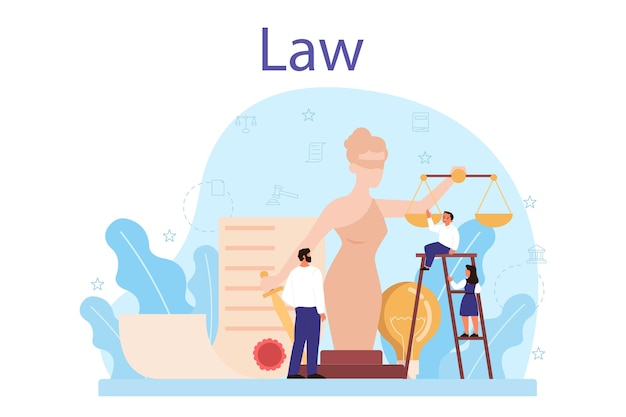 Conceito de aula de direito.