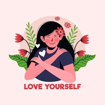 Conceito de auto-cuidado ilustrado