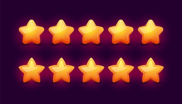 Conceito de avaliação de feedback com cinco estrelas