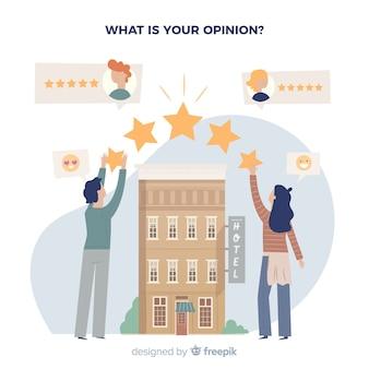 Conceito de avaliação de hotel