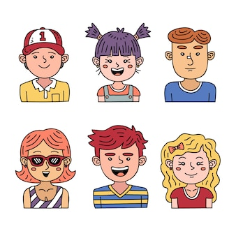 Conceito de avatar de pessoas para ilustração