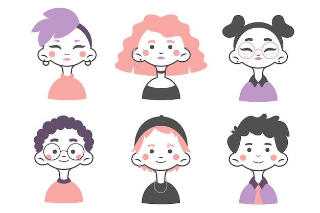 Conceito de avatares de pessoas