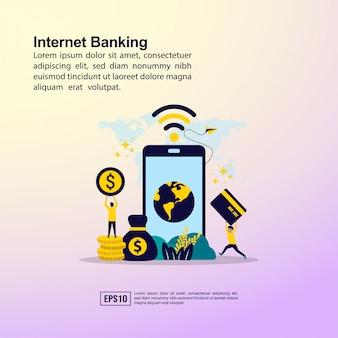 Conceito de banca de internet