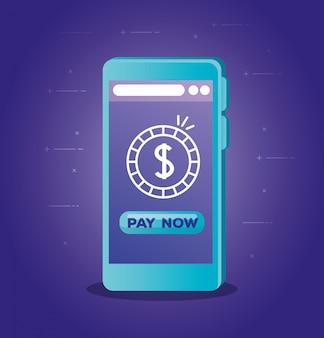 Conceito de banco on-line no smartphone