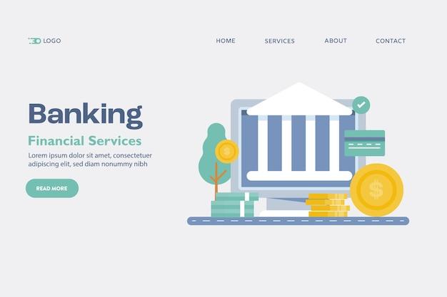 Conceito de banco online