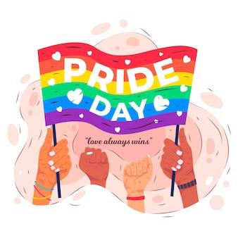 Conceito de bandeira do dia do orgulho