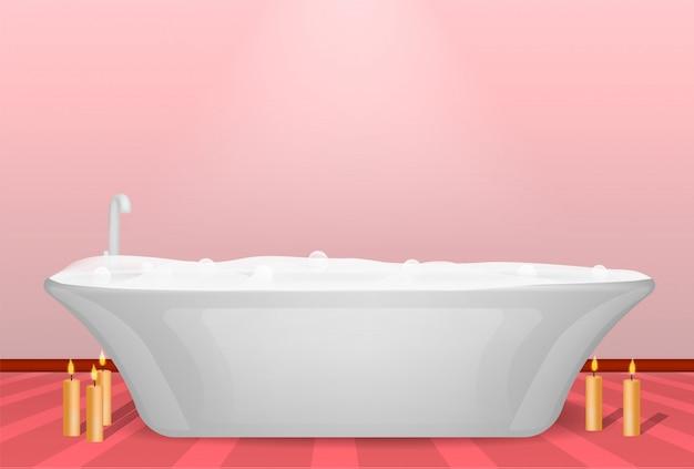 Conceito de banheira moderna, estilo realista