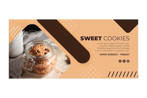 Conceito de banner de biscoitos doces